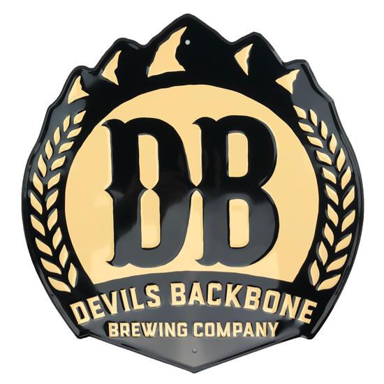 Devils Backbone Logo Tin Tacker