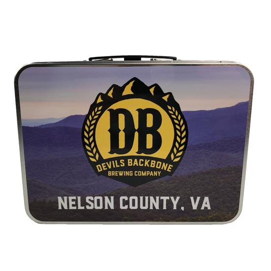 Devils Backbone Retro Metal Lunchbox - Nelson County, Virginia