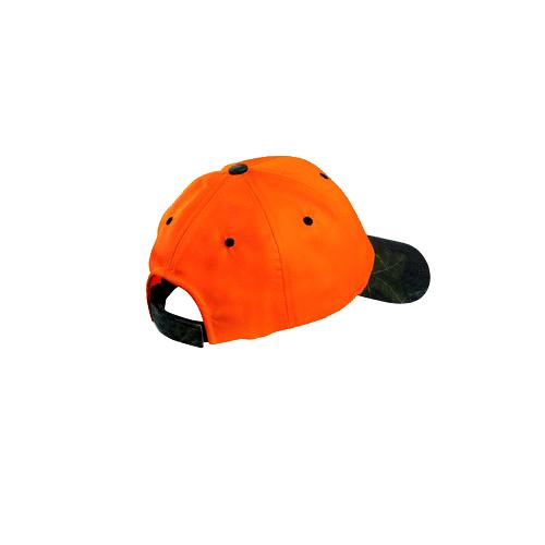 Blaze Orange Mossy Oak Camo Hat