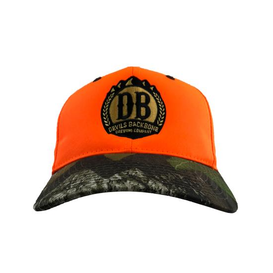 Blaze Orange Mossy Oak Camo Hat