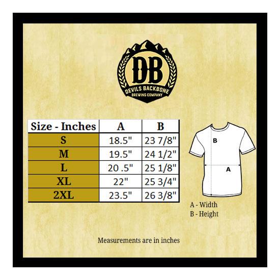 Devils Backbone Next Level 5030 Scoop Neck T-Shirt Size Chart