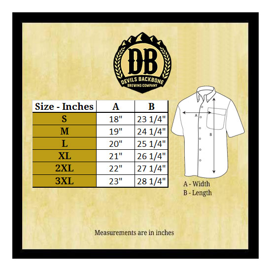 Devils Backbone Hibiscus Hard Lemonade Hawaiian Shirt Size Chart