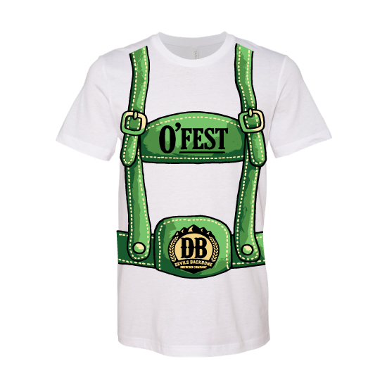 Devils Backbone Brewing Company O'Fest Lederhosen T-Shirt