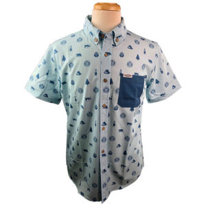 Devils Backbone All Over Print Men's Button Up Shirt