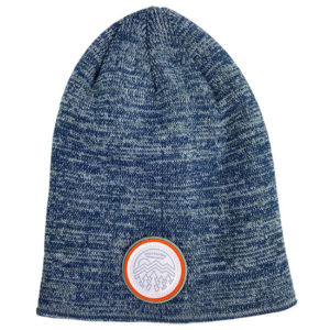 Devils Backbone Marbled Slouch Beanie with Nature Scene Patch