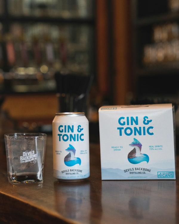 Devils Backbone Gin & Tonic Cocktail