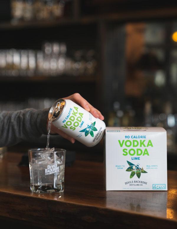 Devils Backbone Vodka Soda Cocktail