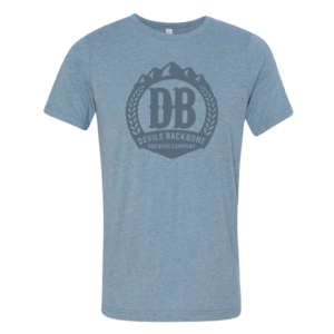 Devils Backbone Brewing Company Triblend T-Shirt - Heathered Denim Blue