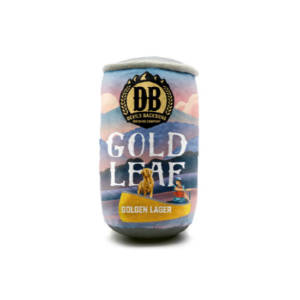 Devils Backbone Brewing Company Gold Leaf Lager Plush Can Dog Toy
