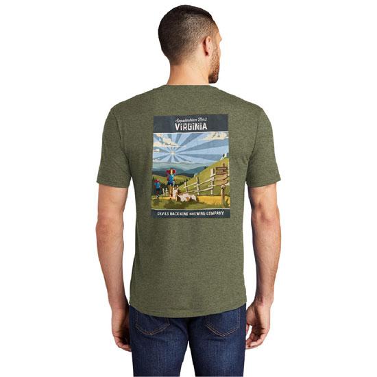 Devils Backbone Appalachian Trail Savor The View Triblend T-Shirt